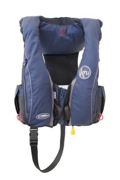 Kru Sport Pro professionelle Vollautomatik Rettungsweste 180N mit Sprayhood + Harness + Schrittgurt